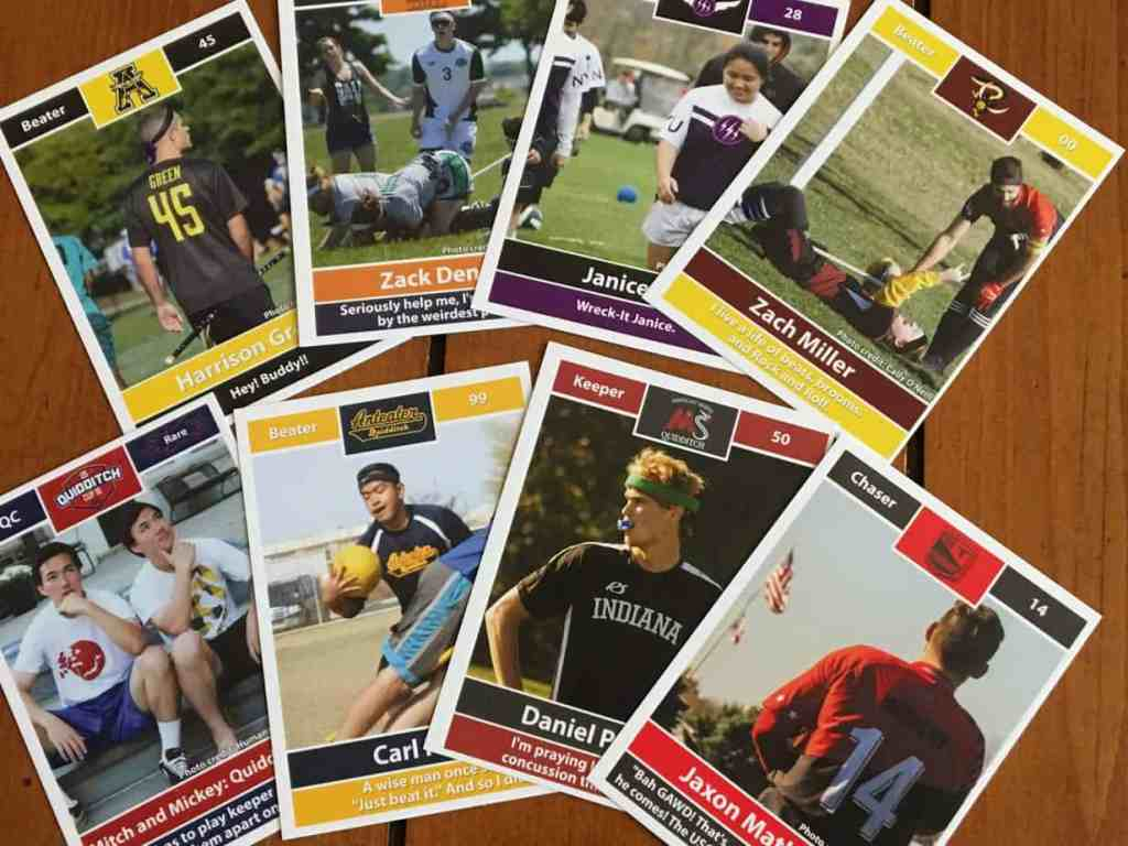Quidditch trading cards