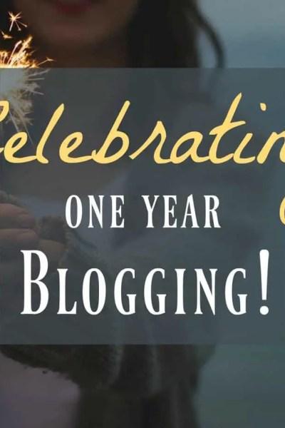 celebrate one year blogging