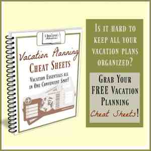 Vacation Plan Cheat Sheet