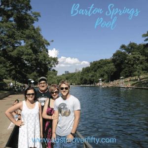 Liivng in Austin includes playing at Barton Springs Pool