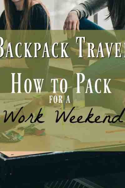 minimalist backpack packing