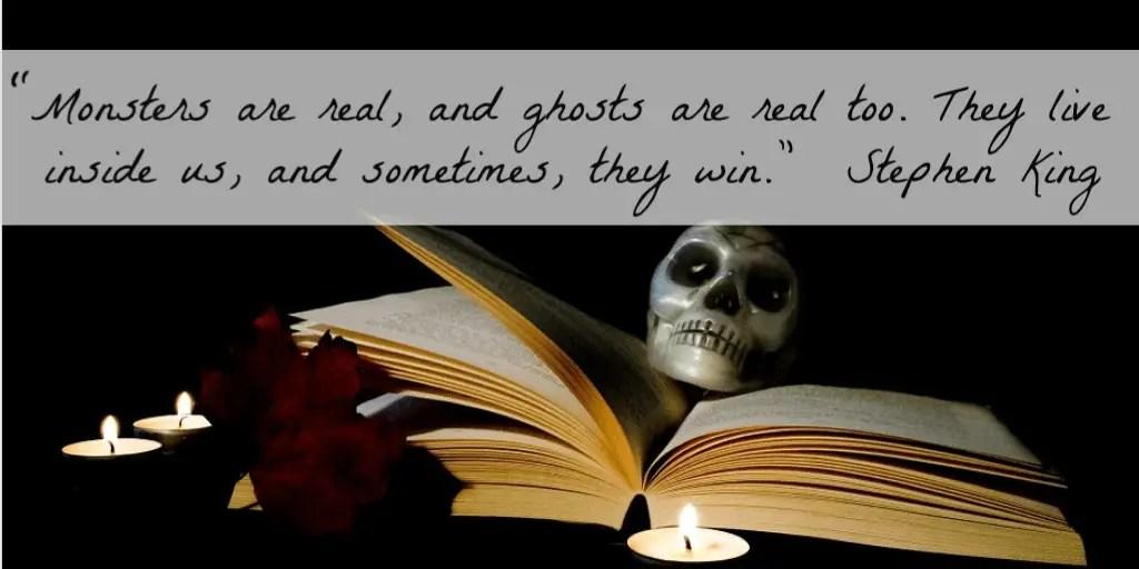 Stephen King quote creepy books