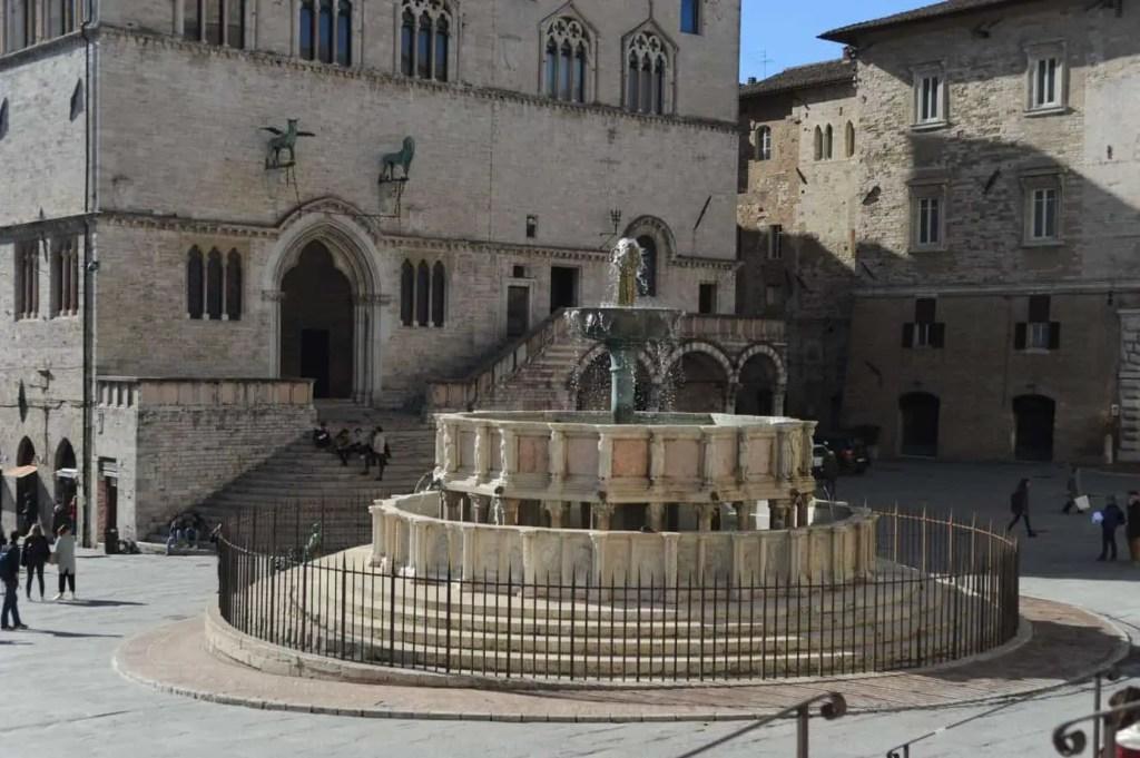 fountain in Perugia Umbria Italy