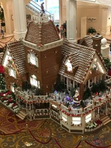 the gingerbread house at the Grand Floridian