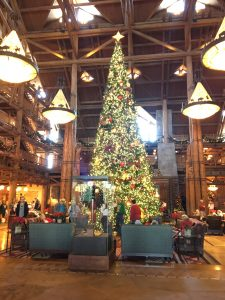 the Christmas tree at the Wilderness Lodge