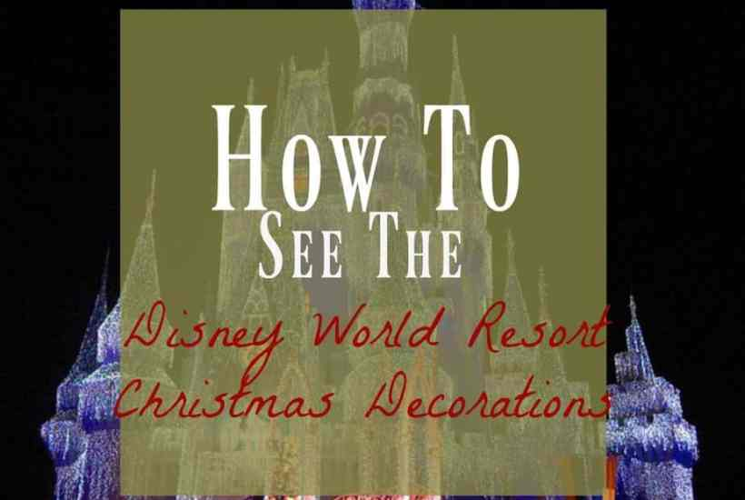 the magic kingdom lit up for Christmas; see the Disney World Christmas Decorations