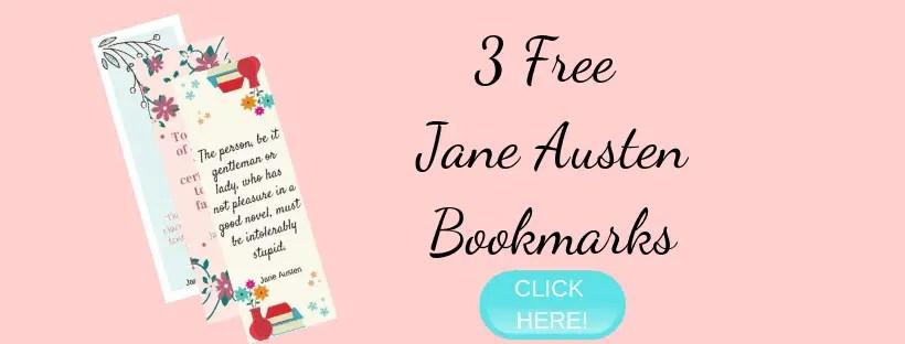 Jane Austen bookmark opt in