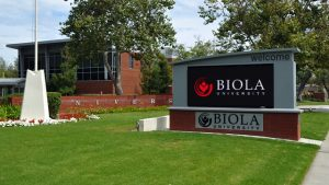 The entrance to Biola University in La Mirada on Wednesday July 18, 2012. The La Mirada Planning Commission will hold a hearing on a master plan to increase Biola University enrollment from an existing cap of 5,000 to 6,800 that will include demolition of 25 buildings, the construction of 16 new buildings and three parking structures and an increase from 1.5 million square feet of buildings to 1.7 million. (SGVN/Staff photo by Keith Durflinger)