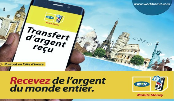 mtn-mobile-money-recevez-de-largent-de-par-le-monde-via-worldremit-cote-divoire