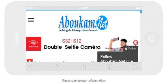 un site web blog responsive aboukam.bet
