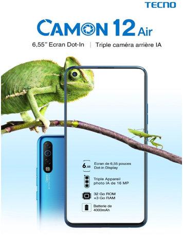 TECNO MOBILE Les nouveaux Camon 12 et Camon 12 Air sont enfin DISPONIBLES