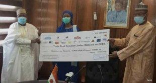 COVID-19 BIA Niger et Banque Atlantique font un don de 100 Millions de FCFA