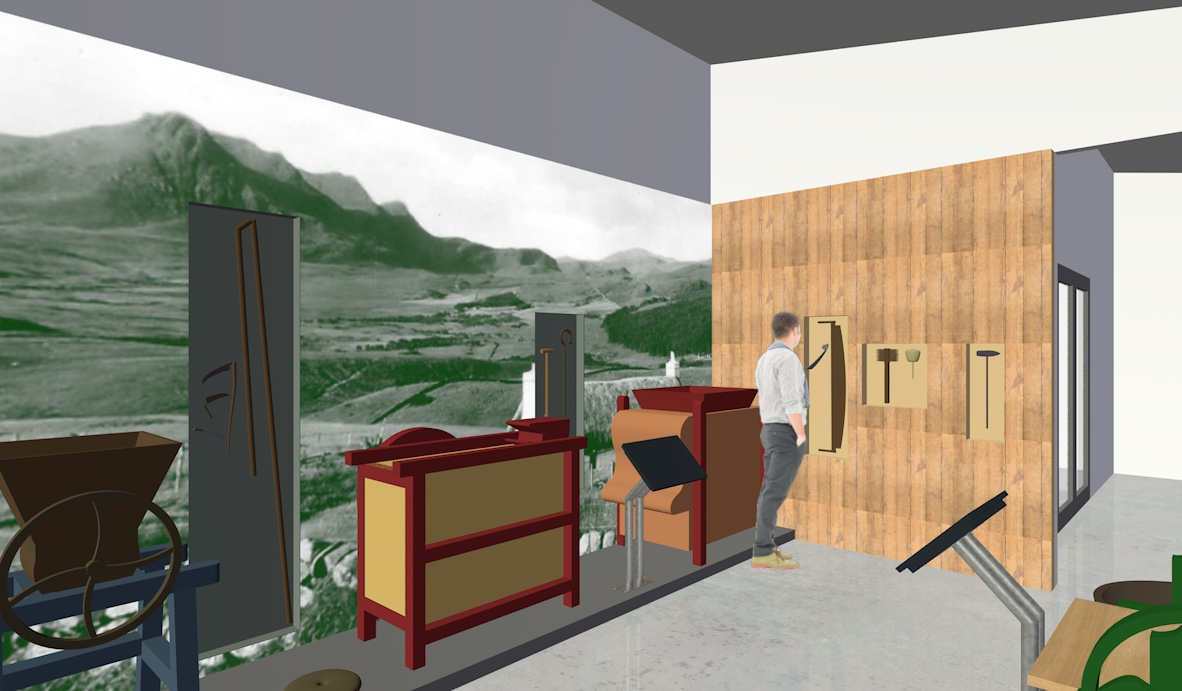 Design concepts for agricultural exhibits, Strathnaver Museum
