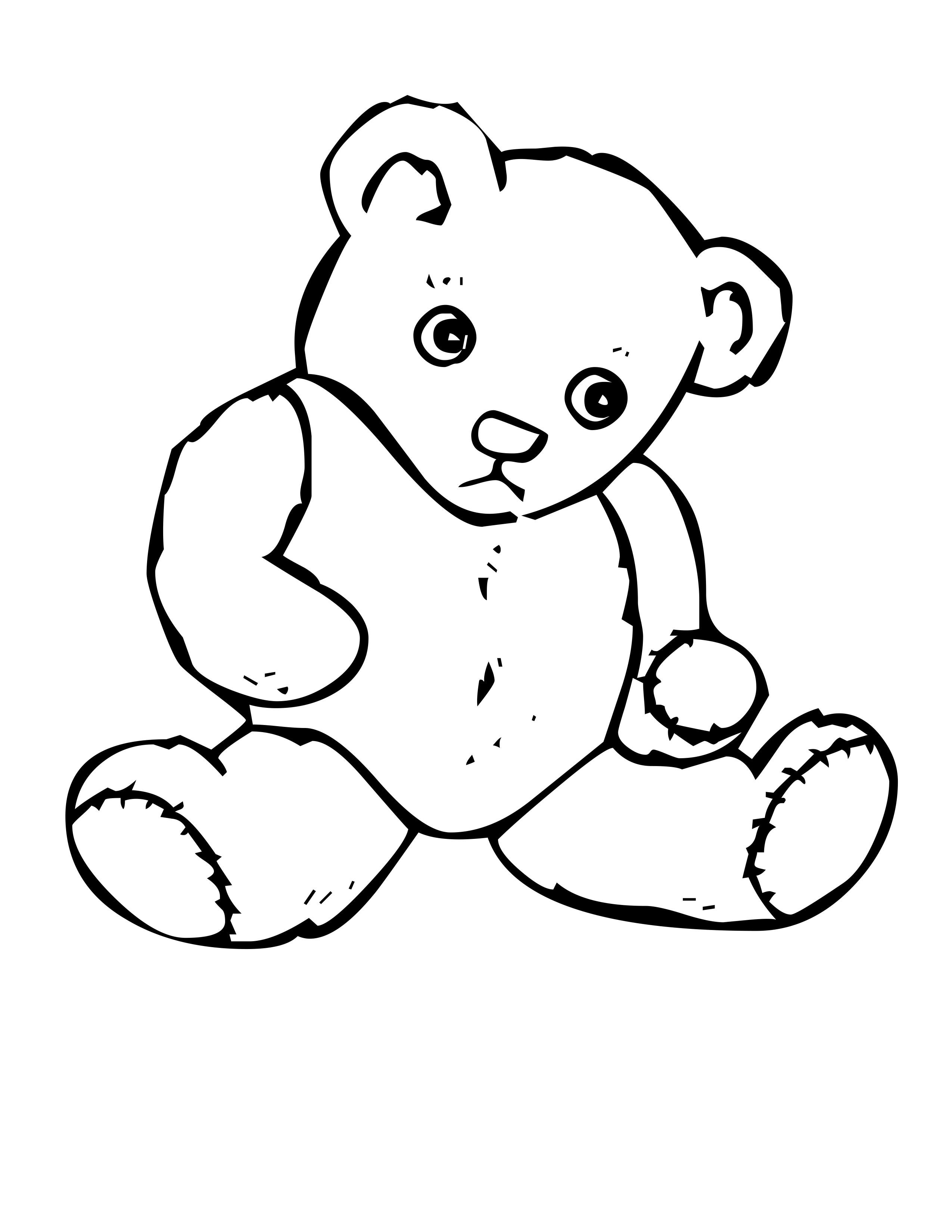 sleeping bear coloring page sleeping bear coloring page