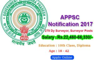 APPSC Notification 2017