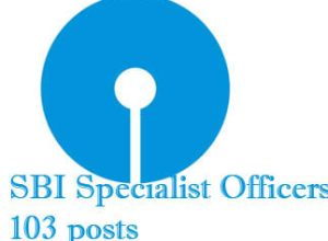 103 Specialist Officers Posts