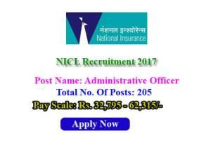 NICL Recruitment 2017