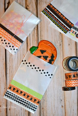 Washi Tape Halloween Treat Bags