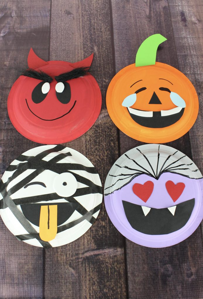 Emoji Halloween Paper Plate Crafts About A Mom