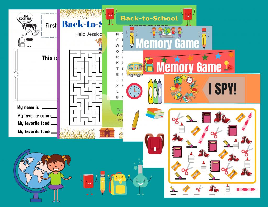 Free Printable Back To School Worksheets