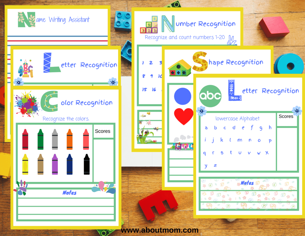 Kindergarten Readiness Assessment Printables