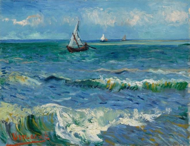 Zeegezicht bij Les Saintes-Maries-de-la-Mer, Vincent van Gogh (1888)