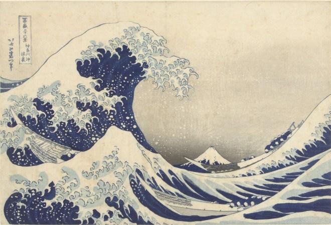 Katsushika Hokusai, Onder de golf bij Kanagawa, 1829-1833