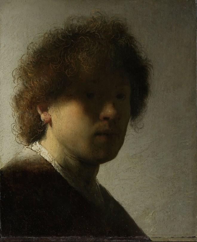 Zelfportret, Rembrandt. 1628