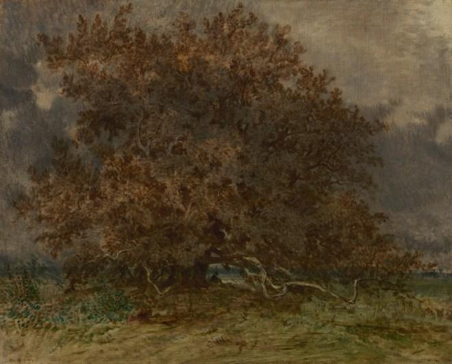 'De kromme boom bij het Carrefour de l'Epine, 1852