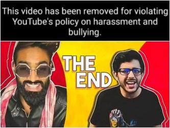 Carryminati TikTok vs YouTube video