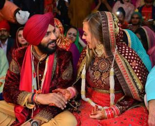 Yuvraj and Hazel marriage