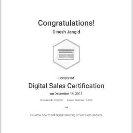 Google sales certificate