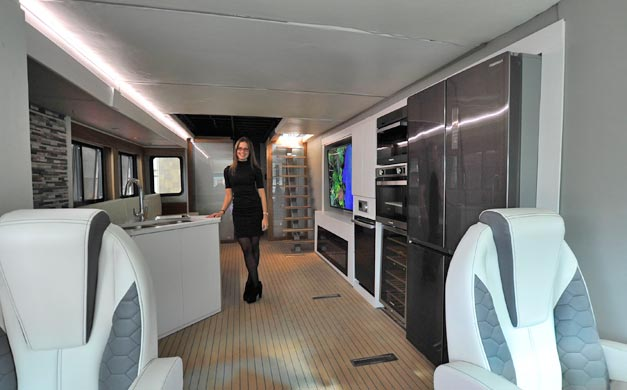 National RV Trade Show 2016 Furrion And Its Elysium Futuristic Class A Motorhome Aboutcamp