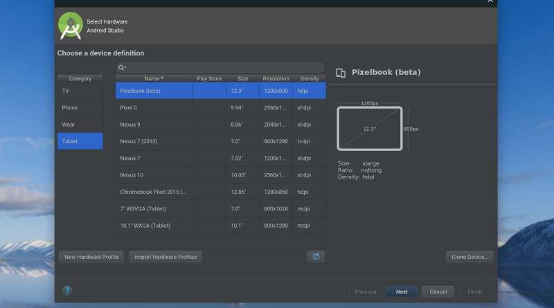 Chrome OS emulator on Android Studio