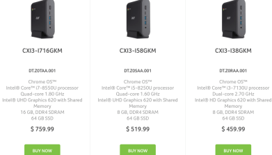 New Acer Chromebox CXI3 models available for pre-order