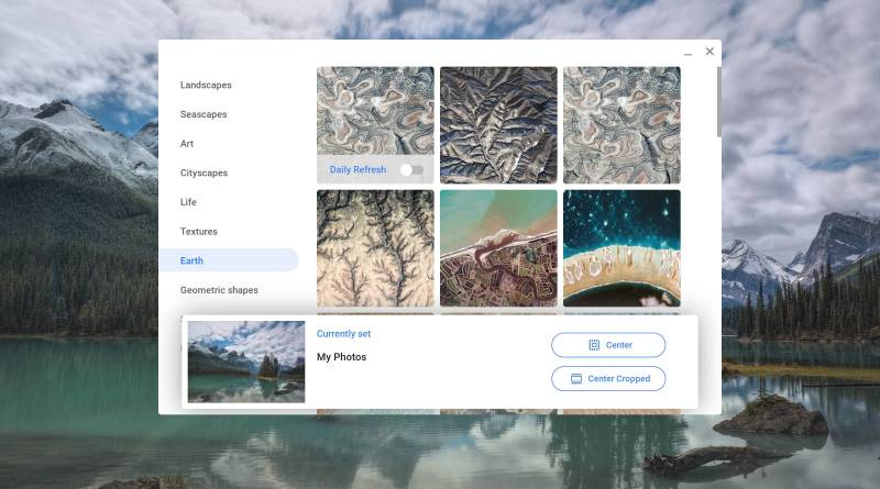 Chrome OS wallpaper picker featured