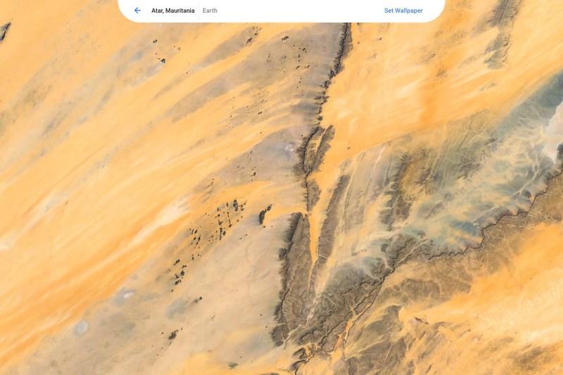 Chrome OS wallpaper picker preview