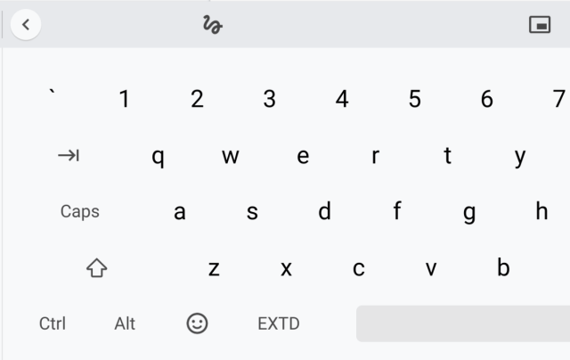How to add the CTRL and ALT keys on the software keyboard of