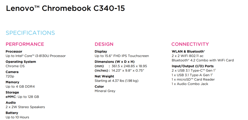 Lenovo Chromebook C340 and S340 officially announced