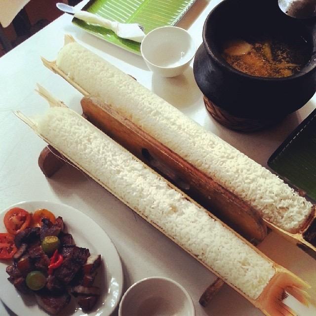 Sinaing sa Kawayan (Rice in Bamboo)