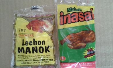 Lechon Manok crackers & Ma'am Inasal ulam crackers