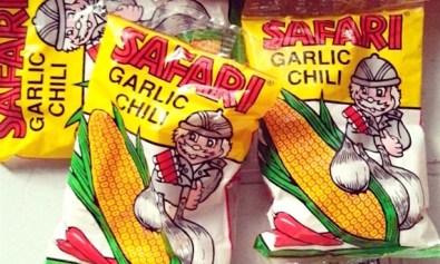 Safari Garlic Chili corn snack