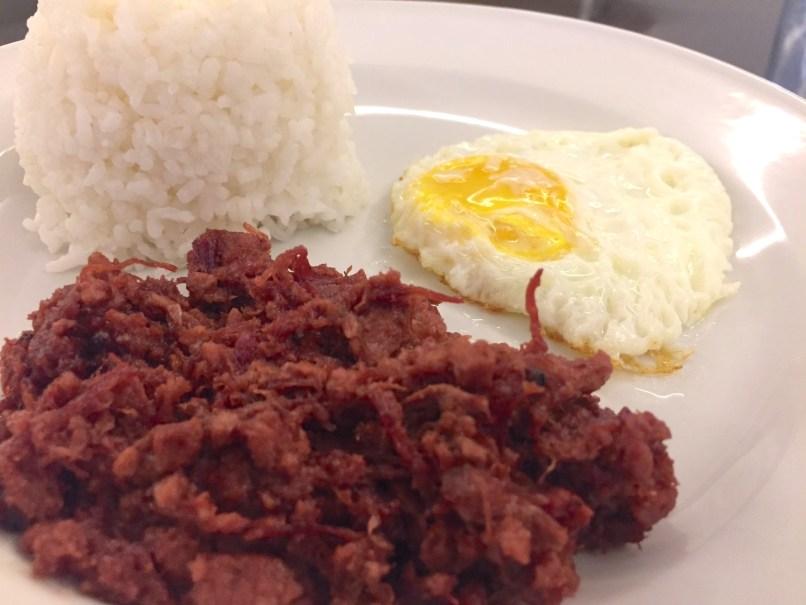 Cornsilog Filipino meal