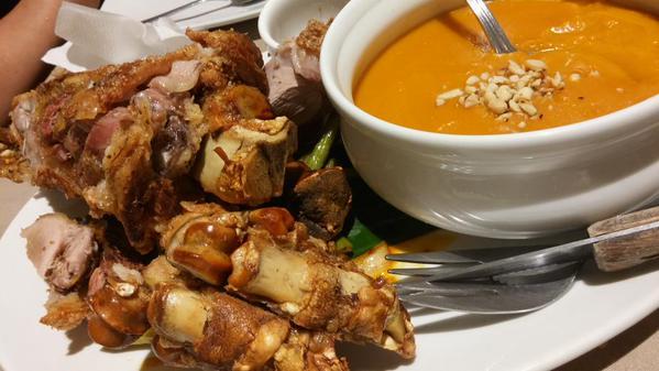 Crispy Pata Kare-Kare from C2 restaurant.