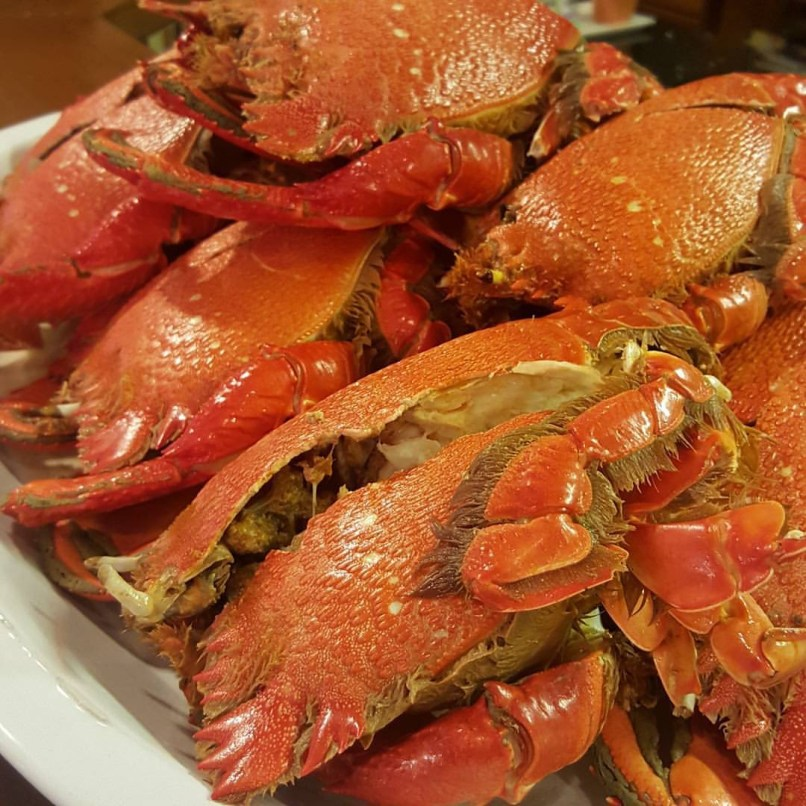Curacha Crabs Cooked