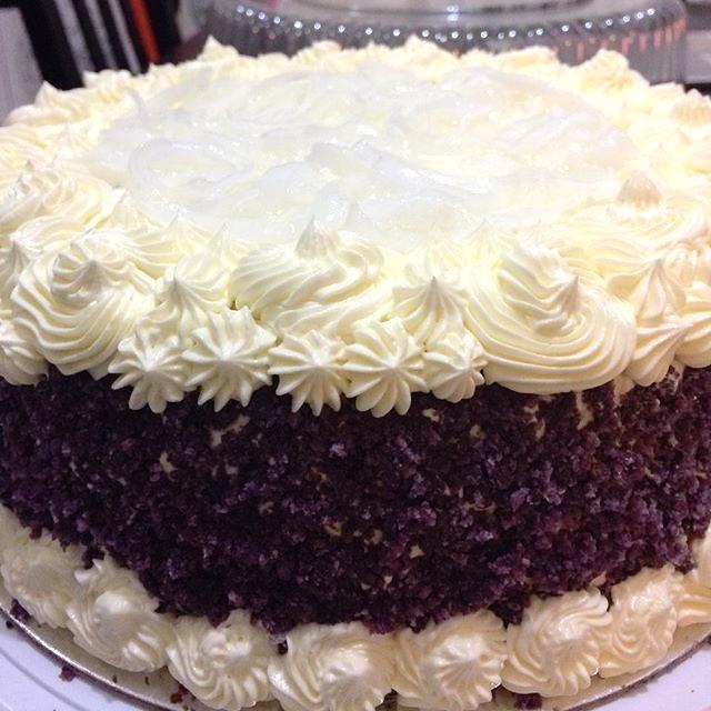 Ube-Macapuno Cake
