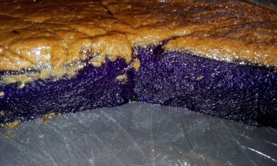 Ube Kalamay Topped with Latik