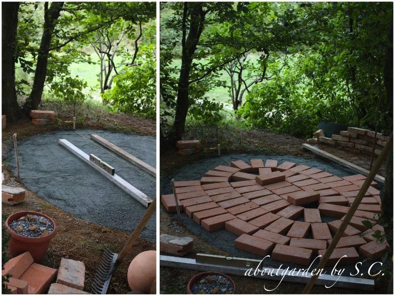 <em>                                                  piccolo patio con posa di mattoni