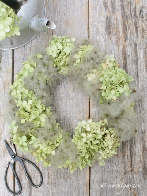 wreath with clematis seeds