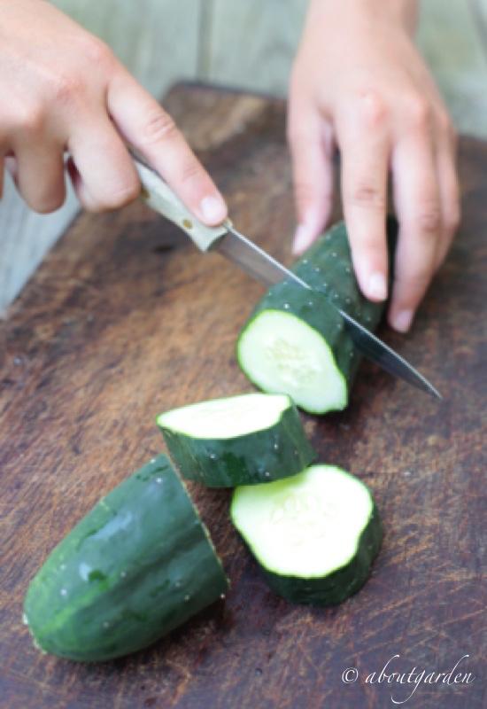taglio cetriolo